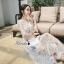 เดรสเกาหลี พร้อมส่ง เดรสผ้าลูกไม้ซีทรู ปักดอกไม้ thumbnail 6