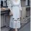 เดรสเกาหลี พร้อมส่ง เดรสผ้าลูกไม้สีขาว thumbnail 2
