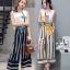 เสื้อผ้าเกาหลี พร้อมส่ง Set เสื้อ+กางเกงขาบาน 7 ส่วน thumbnail 1