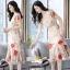 เดรสเกาหลี พร้อมส่ง ชุดเดรสผ้าชีฟอง ลายดอกไม้ thumbnail 9