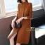 เดรสเกาหลี พร้อมส่ง Dress คอปีน แขนยาว thumbnail 1