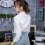 เสื้อเกาหลี พร้อมส่ง เสื้อเชิ้ต คอปกลายตาราง thumbnail 12