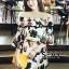 เดรสเกาหลี พร้อมส่ง Mini dress ไหมพรมทรงสวย thumbnail 3