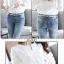 เสื้อเกาหลี คอกลม ผ่าคอ พร้อมส่ง thumbnail 2