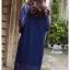 ชุดเดรสเกาหลี พร้อมส่ง Dress ลูกไม้ ลายทางฉลุ thumbnail 14