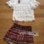 พร้อมส่ง เซ็ตเสื้อผ้าลูกไม้สีขาวและกางเกงขาสั้น thumbnail 6