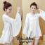 เดรสเกาหลี พร้อมส่ง MINI Dress คอวีแขนกระดิ่ง thumbnail 7