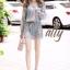เสื้อผ้าเกาหลี พร้อมส่ง จั๊มสูทมีหูร้อยเชือกข้างเอว thumbnail 3