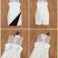 ชุดเดรสเกาหลี พร้อมส่ง Dress แขนกุด อกต่อผ้าซีทรู thumbnail 7