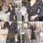 ชุดเดรสเกาหลี พร้อมส่ง Maxi Dress ทรงบาน คอวีป้ายอก thumbnail 2