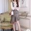 เดรสเกาหลี พร้อมส่ง ชุดเดรส ใช้ผ้าทอเนื้อสวย thumbnail 4