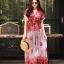 ชุดเดรสเกาหลี พร้อมส่ง Maxi dress ผ้าสปันเนื้อดีปริ้นลายสวย thumbnail 2