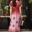 ชุดเดรสเกาหลี พร้อมส่ง Maxi dress ผ้าสปันเนื้อดีปริ้นลายสวย thumbnail 6