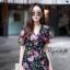 ชุดเดรสเกาหลี พร้อมส่ง Maxi Dress ผ้าชีฟอง ลายดอก thumbnail 6