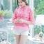 เสื้อเกาหลี ผ้าลูกไม้ ลายดอกกุหลาบ พร้อมส่ง thumbnail 9