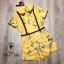 เสื้อผ้าเกาหลี พร้อมส่ง จั้มสูท คอบัวปักดอกไม้ thumbnail 12