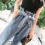 พร้อมส่ง กางเกงยีนส์ สไตล์เกาหลี thumbnail 8
