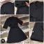 เสื้อผ้าเกาหลี พร้อมส่ง เดรสโค้ทปกหลังป้ายซ้ายขวา thumbnail 4