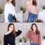 เสื้อเกาหลี สีพื้นดีไซน์สุดเก๋ พร้อมส่ง thumbnail 1