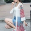 เสื้อคลุมเกาหลี งานปักดอกไม้ พร้อมส่ง thumbnail 5