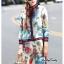 เสื้อผ้าเกาหลี พร้อมส่ง เสื้อกับกางเกงพิมพ์ลายดอกไม้ thumbnail 4