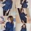 เสื้อเกาหลี พร้อมส่ง เสื้อยีนส์ สม็อคช่วงเอว thumbnail 9