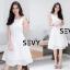พร้อมส่ง Dress งานเรียบหรู สวย เดรสผ้าตาข่าย thumbnail 14