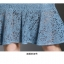 เดรสเกาหลี พร้อมส่ง เดรสผ้าลูกไม้เนื้อดี สีฟ้าเข้ม thumbnail 14