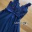 ชุดเดรสเกาหลี พร้อมส่ง ค็อกเทลเดรสผ้าทูลเลสีน้ำเงิน thumbnail 13