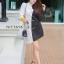 เดรสเกาหลี สีทูโทนขาวดำ พร้อมส่ง thumbnail 4