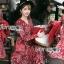 ชุดเดรสเกาหลี พร้อมส่ง เดรสยาว ผ้าเครปพิมพ์ลายดอกไม้ thumbnail 3