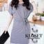 เดรสเกาหลี พร้อมส่ง Mini dress คอกลม thumbnail 5