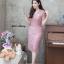 ชุดเดรสเกาหลี พร้อมส่ง Dress ลูกไม้คอวี thumbnail 8