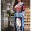 เดรสเกาหลี พร้อมส่ง Dress ปริ้นลาย thumbnail 1