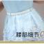 พร้อมส่ง ชุดเดรสผ้าชีฟองคอจีน สีฟ้า thumbnail 14