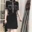 พร้อมส่ง Mini Dress เดรสสั้นคอปก thumbnail 2