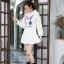 เสื้อเกาหลี พร้อมส่ง จั้มเปอร์ฮู้ด ลายกระต่าย thumbnail 15