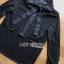 พร้อมส่ง จั๊มสูทเสื้อเชิ้ตผ้าลูกไม้ผูกโบขายาวสีดำ thumbnail 8