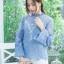 เสื้อแฟชั่นผ้าชีฟองปักดอกไม้ พร้อมส่ง thumbnail 6