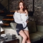เสื้อผ้าเกาหลี พร้อมส่ง เสื้อเชิ้ตกับกระโปรงเฉียง thumbnail 5