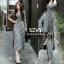 Maxi dress ชุดเดรสเกาหลี ทรงผูกป้าย พร้อมส่ง thumbnail 1