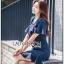 เดรสเกาหลี พร้อมส่ง เดรสสูทสีน้ำเงินแต่งระบาย thumbnail 7