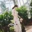 เดรสเกาหลี พร้อมส่ง เดรสผ้าลูกไม้ซีทรู ปักดอกไม้ thumbnail 7