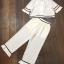 พร้อมส่ง เสื้อสีขาว คอปกกับกางเกง thumbnail 9
