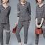 เสื้อผ้าเกาหลี พร้อมส่ง เสื้อกับกางเกงทอลายสก็อต thumbnail 1