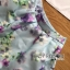 พร้อมส่ง เซ็ตเสื้อคอกลมและกระโปรงสีฟ้าลายดอกไม้ thumbnail 18