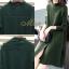 เดรสเกาหลี พร้อมส่ง Dress คอปีน แขนยาว thumbnail 11