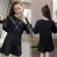 เดรสเกาหลี พร้อมส่ง mini dress ทรง over size thumbnail 1