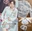เสือผ้าเกาหลี พร้อมส่ง เสื้อเชิ้ตสีขาวและกางเกงปักลาย thumbnail 9
