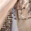พร้อมส่ง Long dress สีชมพูโอรส แขน 5 ส่วน thumbnail 8